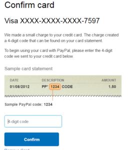 mendapatkan kode paypal 4 digit