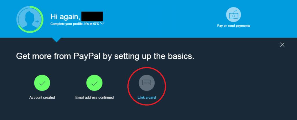verifikasi paypal tampilan baru