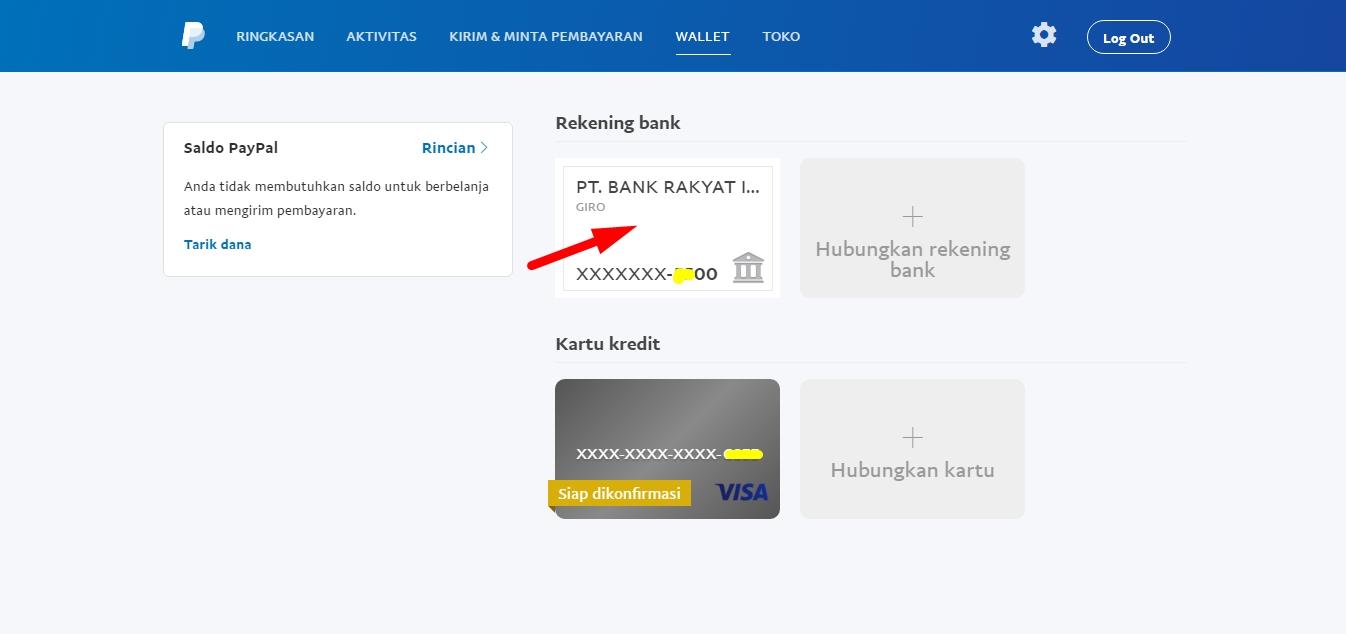 Menambahkan rekening bank ke paypal 6